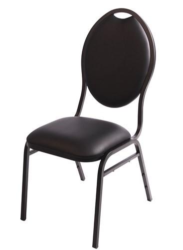 Bankettstuhl Pearl schwarz