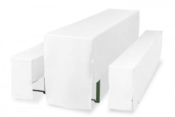 Hussen für Festzeltgarnituren 3/4 lang weiß