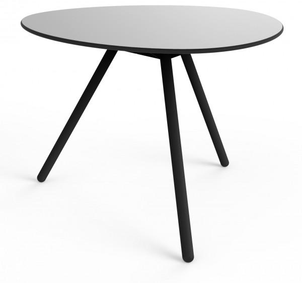 Tisch Low grau/schwarz