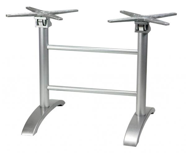 Tischgestell Trento 2 F silber