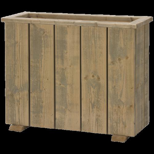 Pflanzgefäß / Raumteiler aus Bauholz