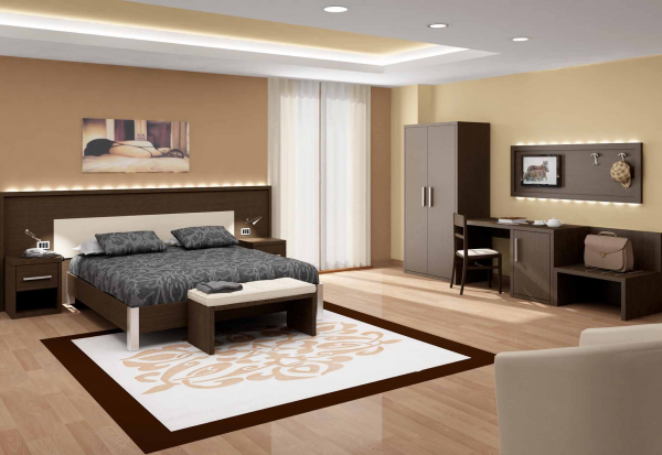 Hotelzimmer Modell Zeus Wenge