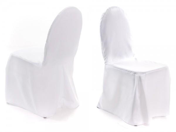 Stuhlhusse für Bankett-Stühle weiß