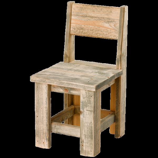 Bauholz-Stuhl