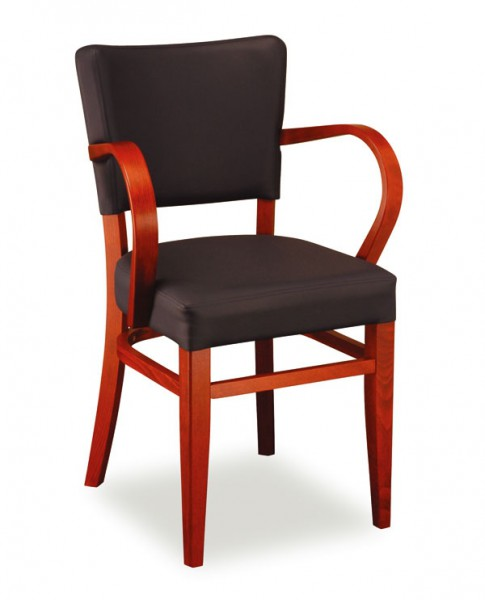 Stuhl Vollpolster mit Armlehnen